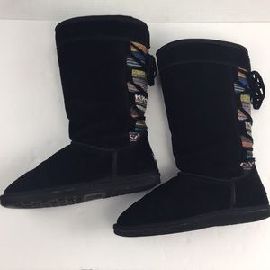 Lamo Tall Lookout Chelsea Suede black Boots 9